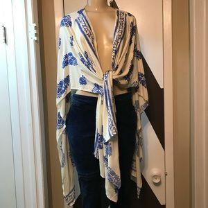 tag removed Swim - EUC stunning multi purpose cotton rayon cover up